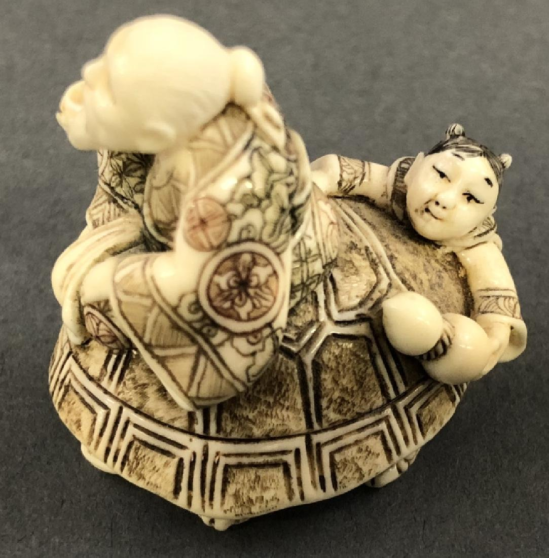 Three Signed Netsuke and Six Small Figures - 4