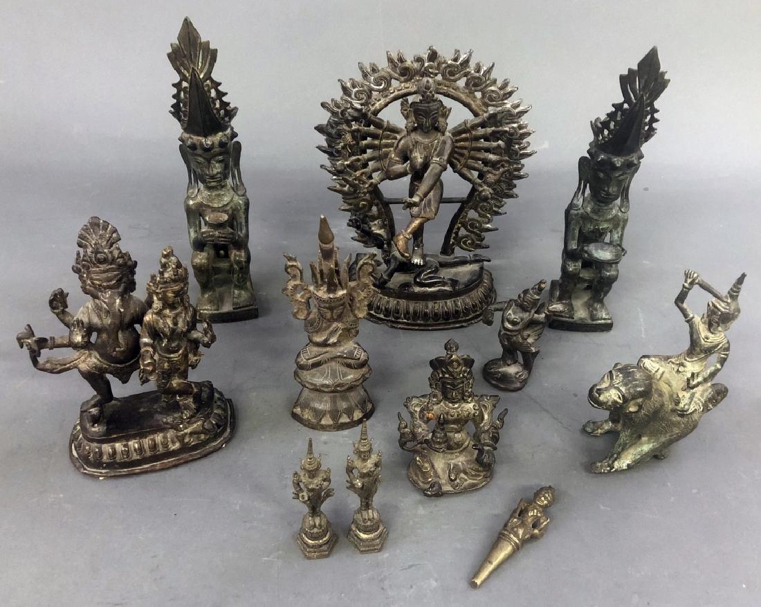 Eleven Indian Bronze Figures