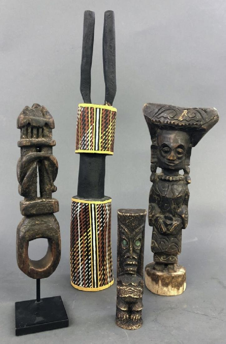 Four Primitive Art Objects