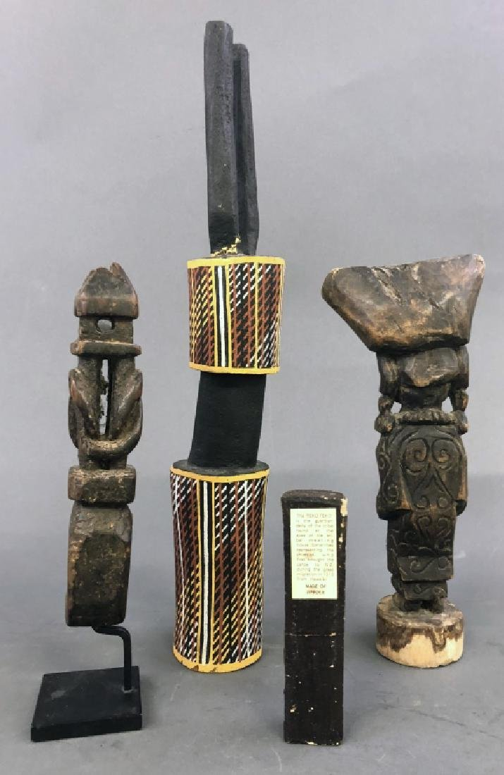 Four Primitive Art Objects - 2