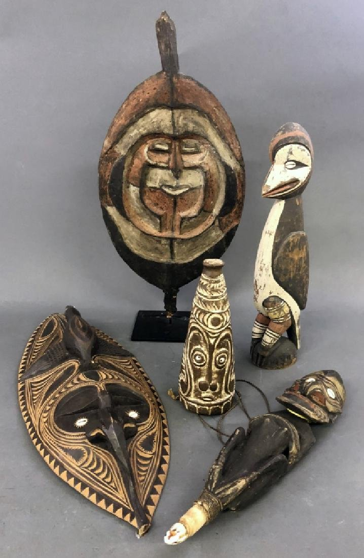 Five Papua New Guinea Art Objects