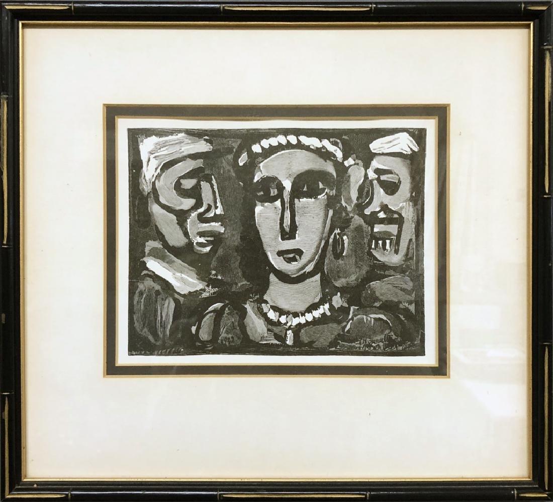 """George Rouault Print """"Les Visages"""""""