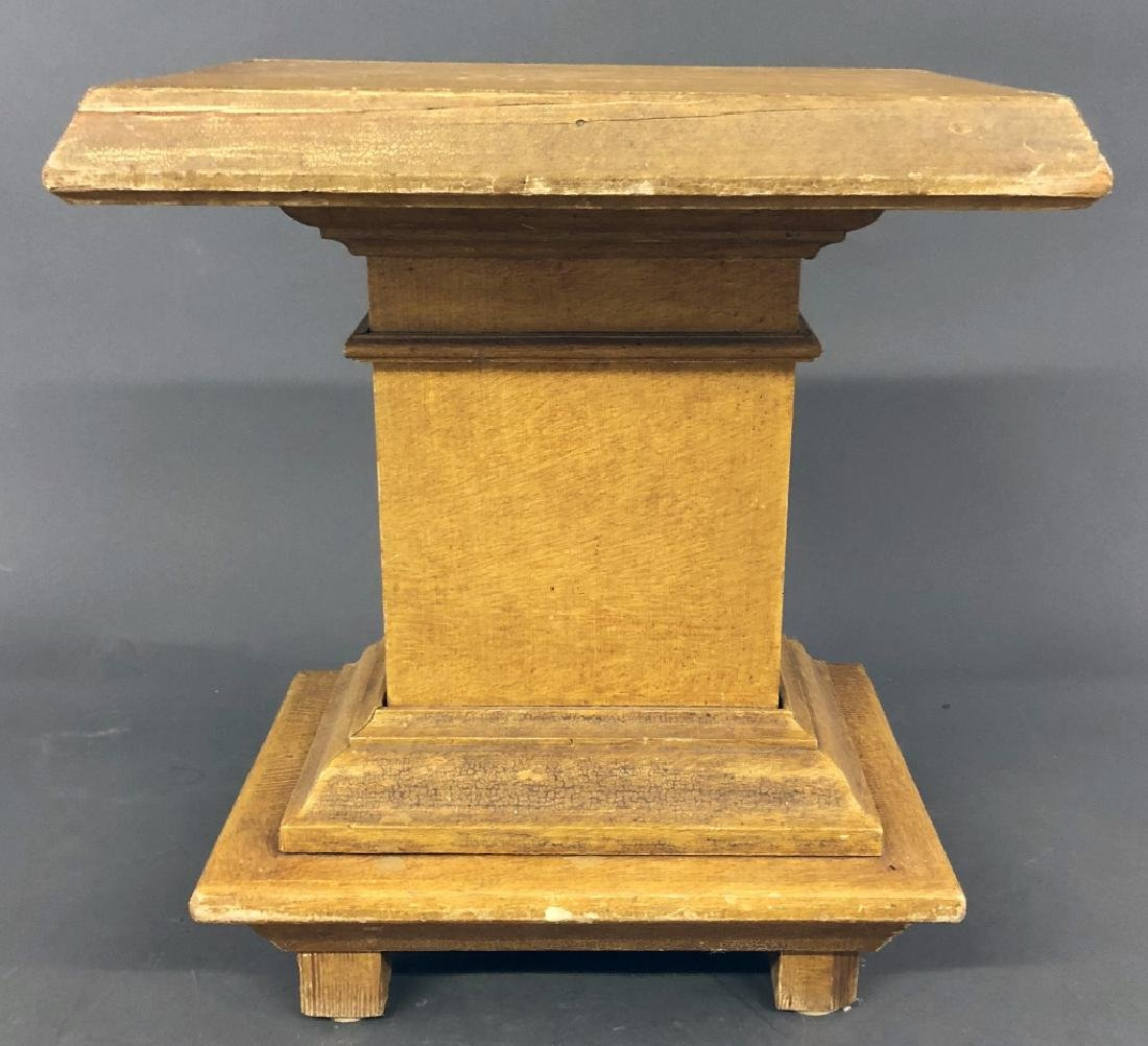 Small Mustard Grain Painted Pedestal