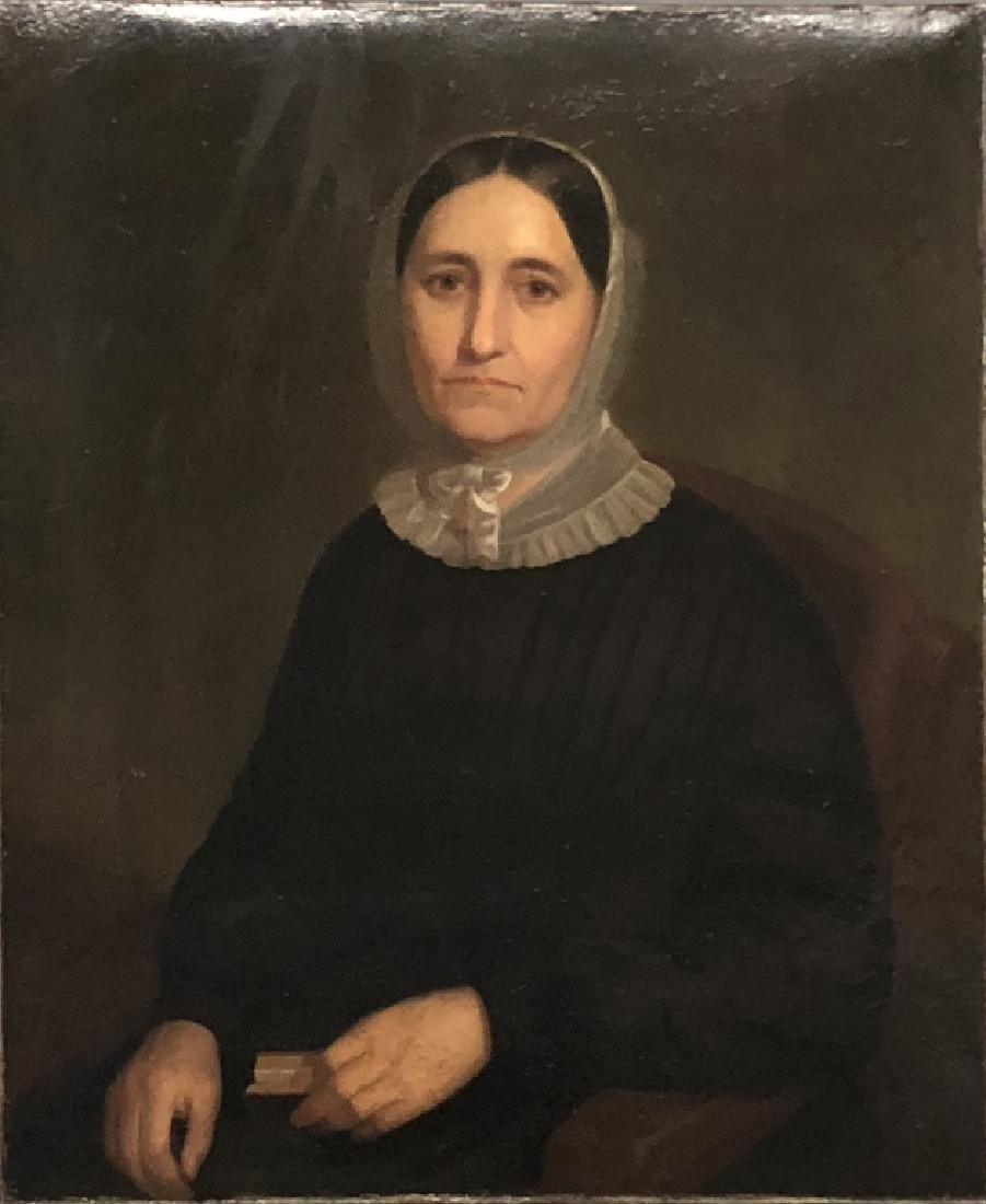 Eliot Gregory Oil on Canvas Portrait of a Woman