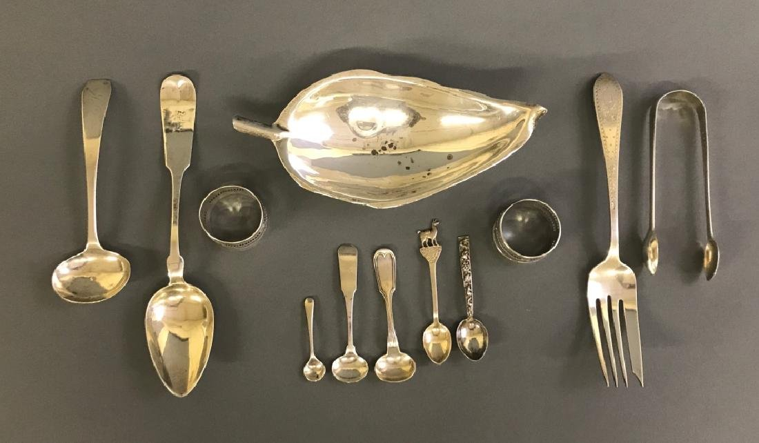 Grouping of Sterling & Coin Silver Flatware