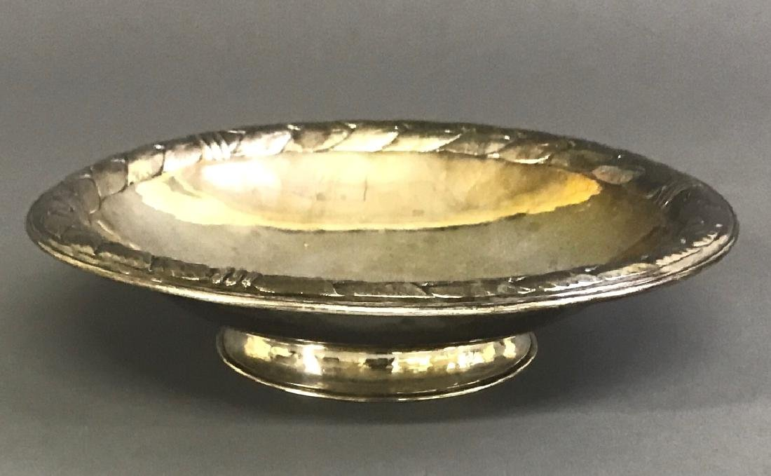 Large Kalo Sterling Silver Footed Serving Bowl