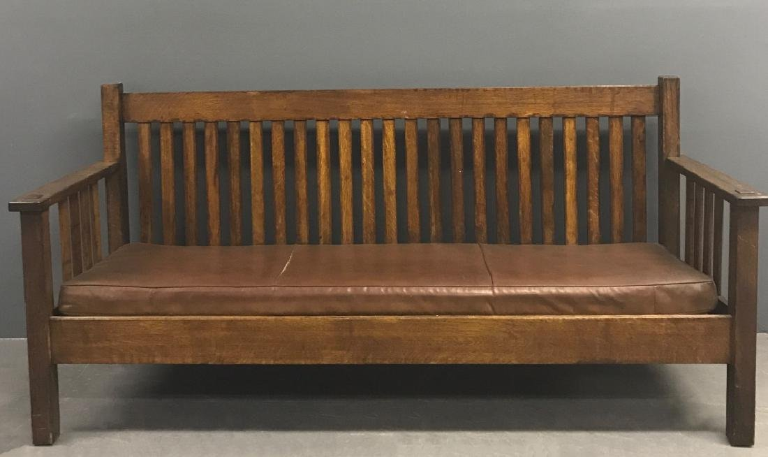 Stickley Brothers Mission Oak Sofa