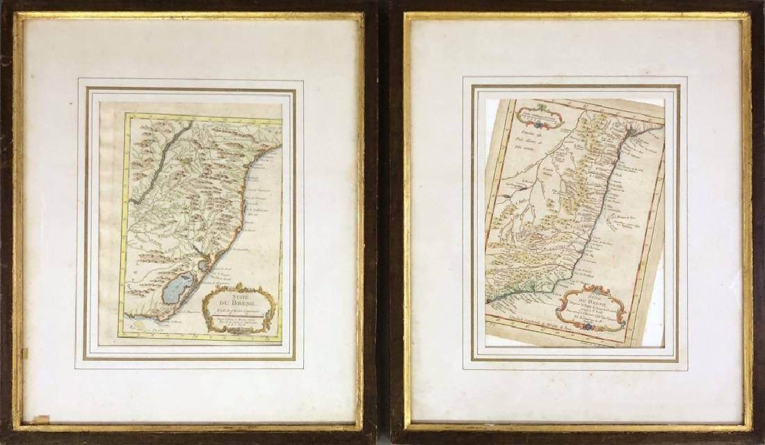 Two Hand Colored Engravings of Brazil
