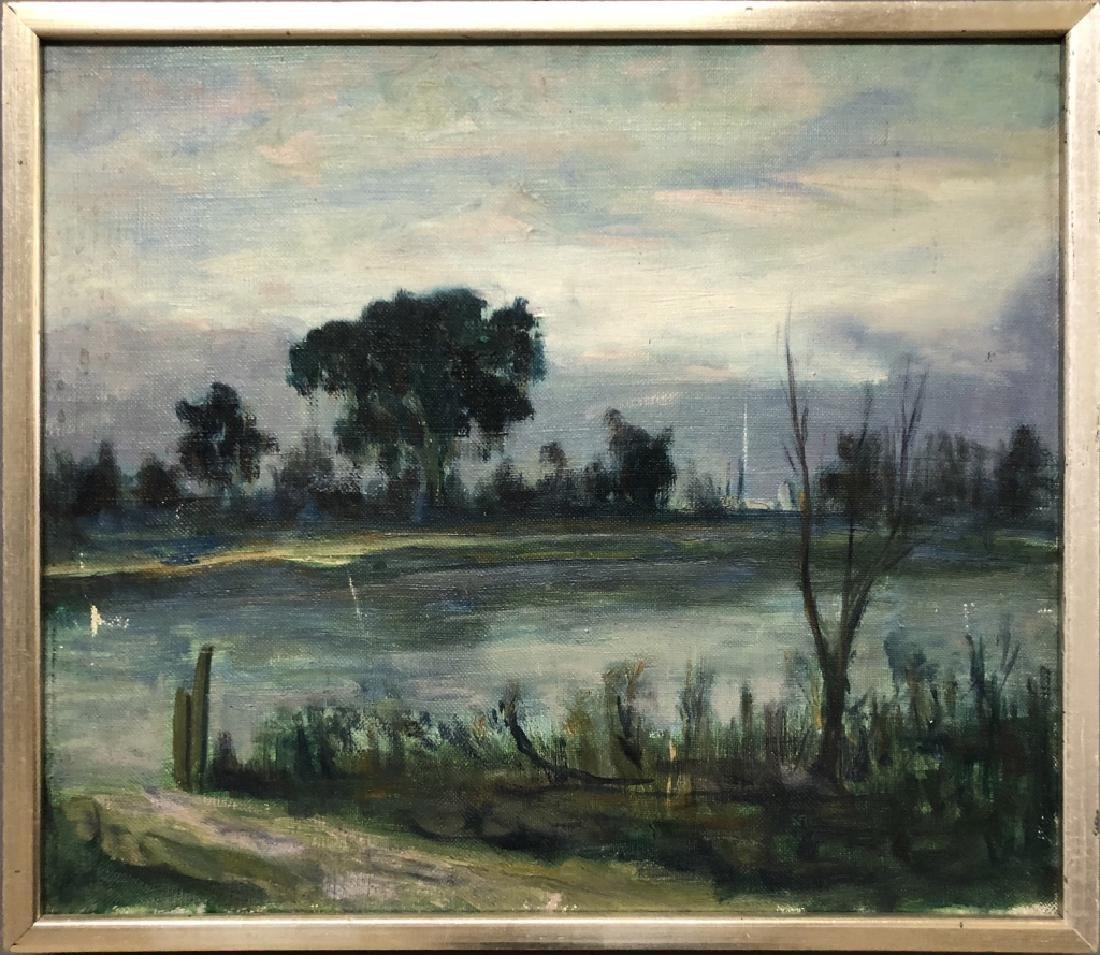 Gideon Stanton Oil on Canvas of a Stream