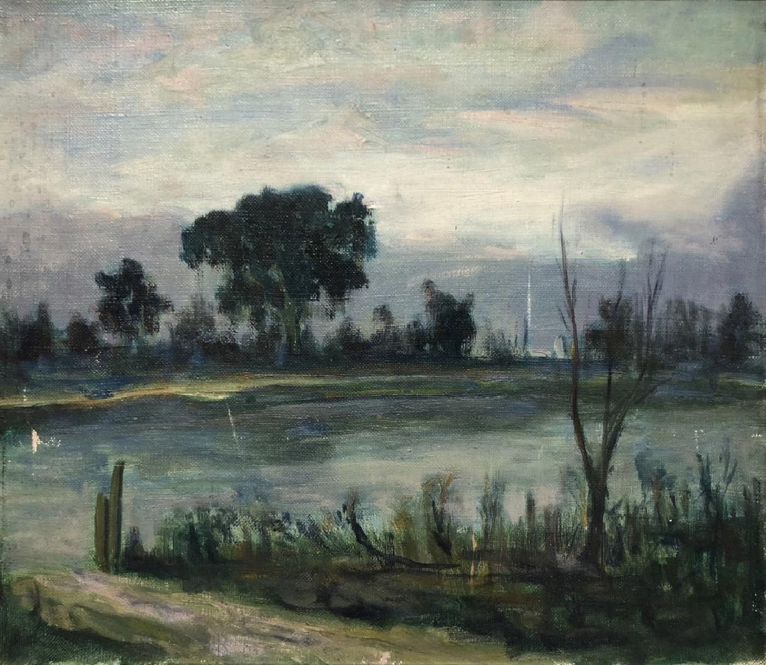 Gideon Stanton Oil on Canvas of a Stream - 2