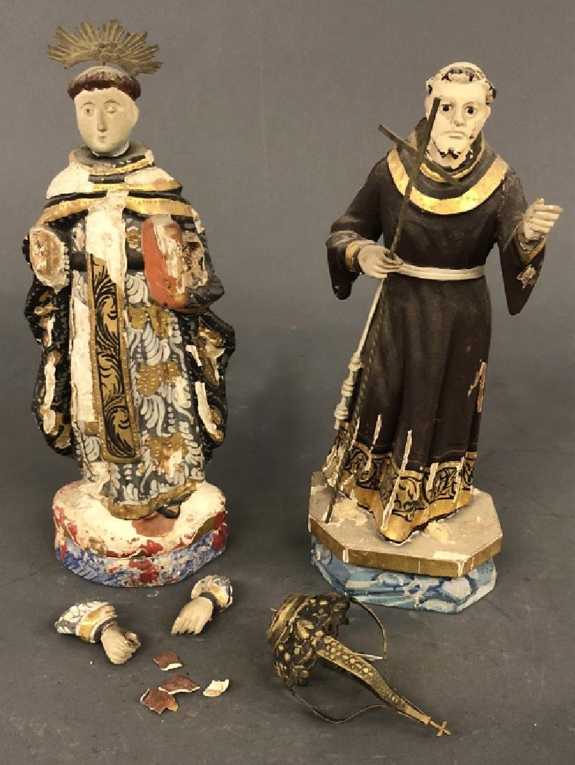 Carved and Painted Figures of Saints