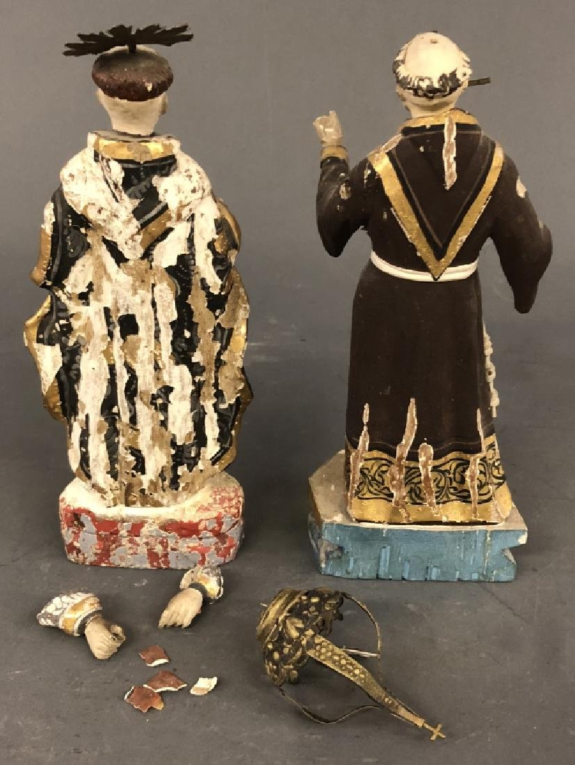 Carved and Painted Figures of Saints - 2