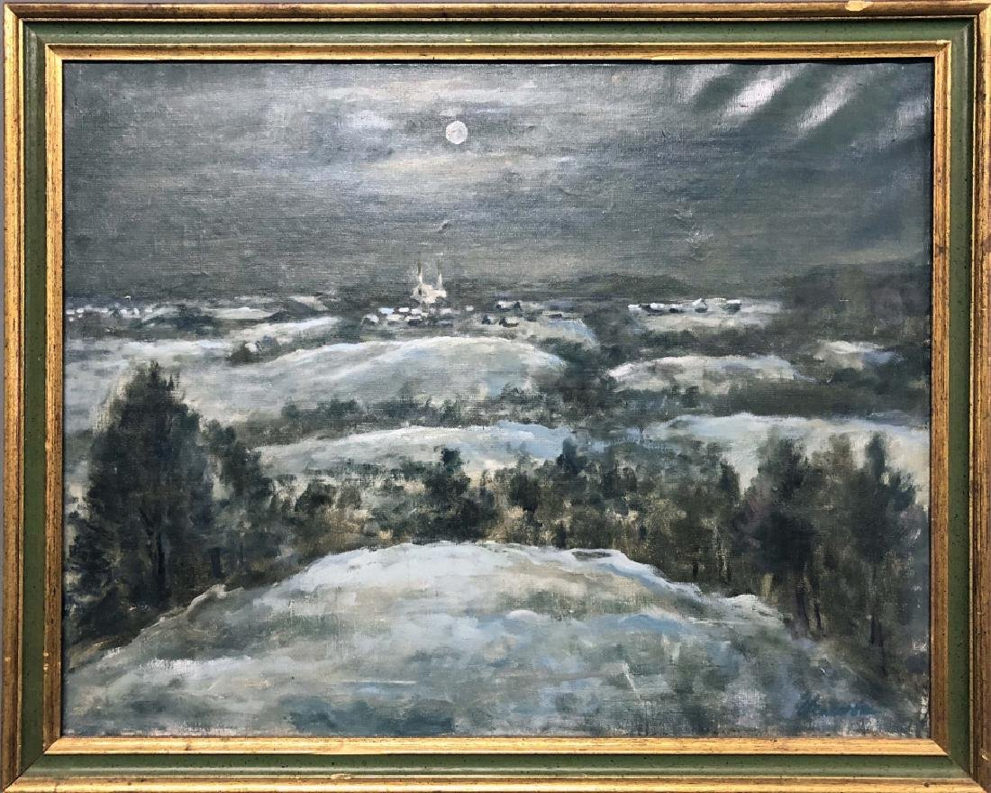 Oil on Canvas Russian Painting of Minsk