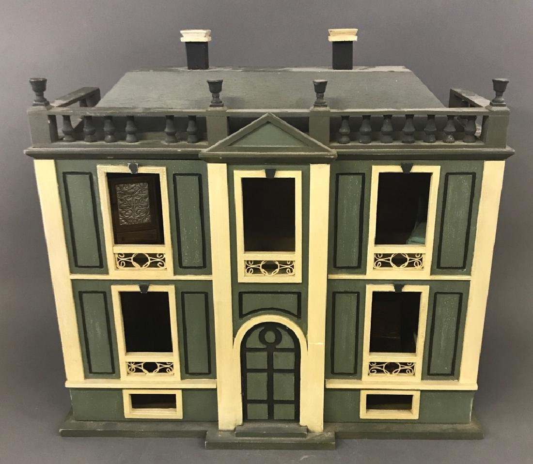 Georgian Style Wood Dollhouse