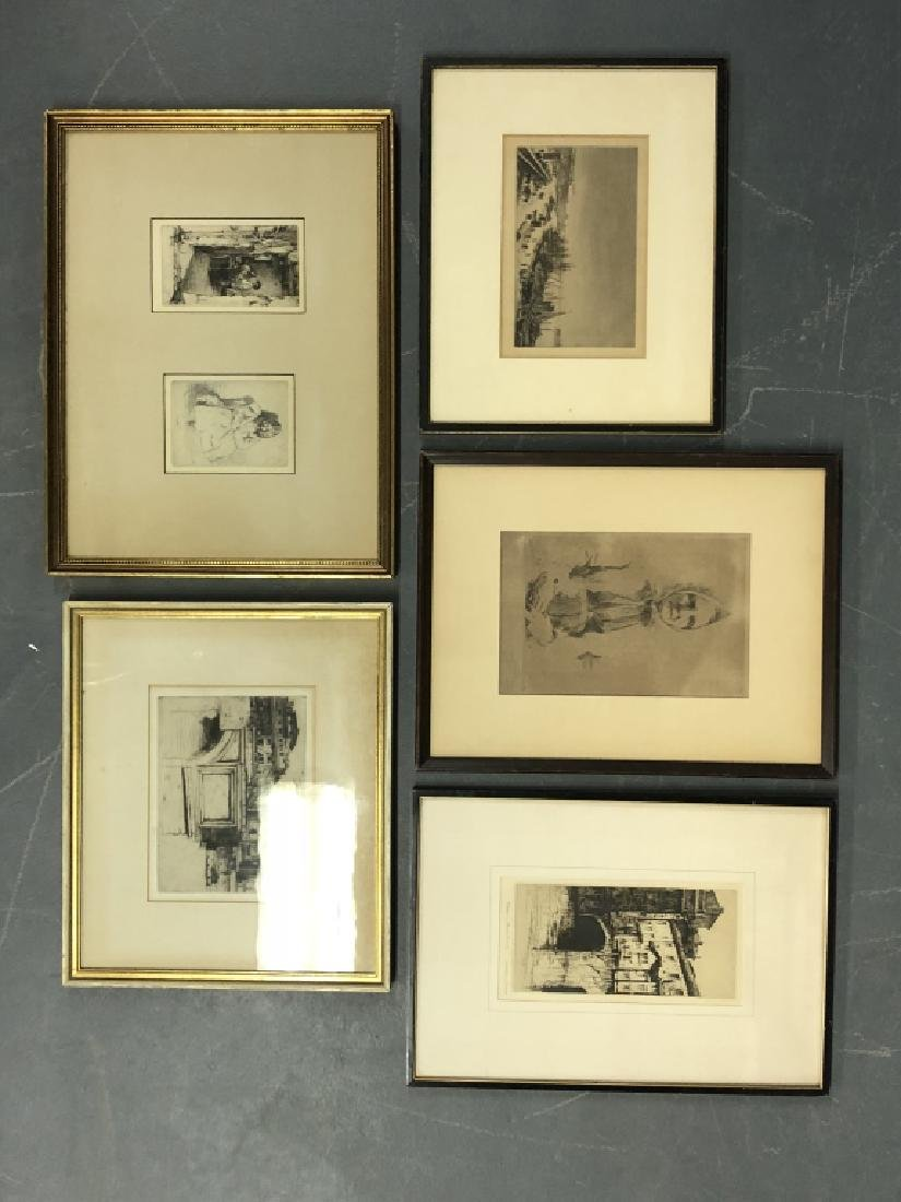 Five Framed and Matted Engravings - 2