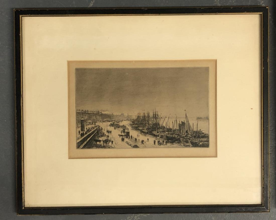 Five Framed and Matted Engravings - 3