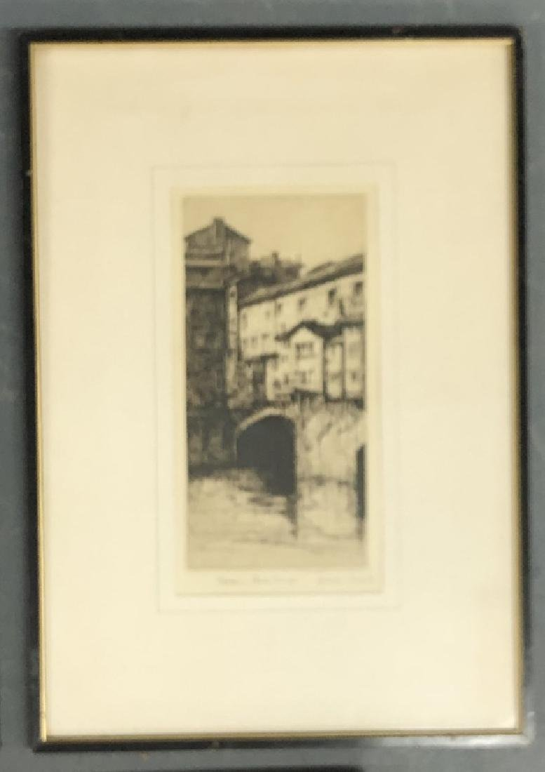 Five Framed and Matted Engravings - 5
