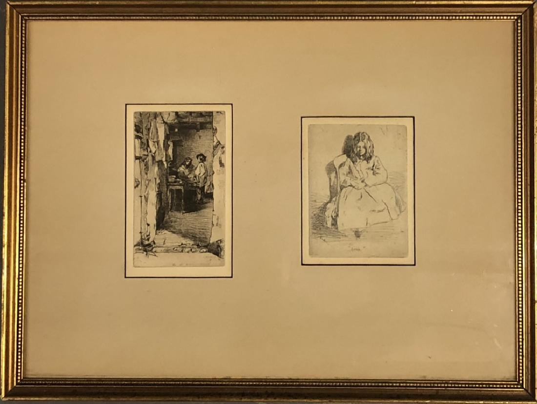 Five Framed and Matted Engravings - 6