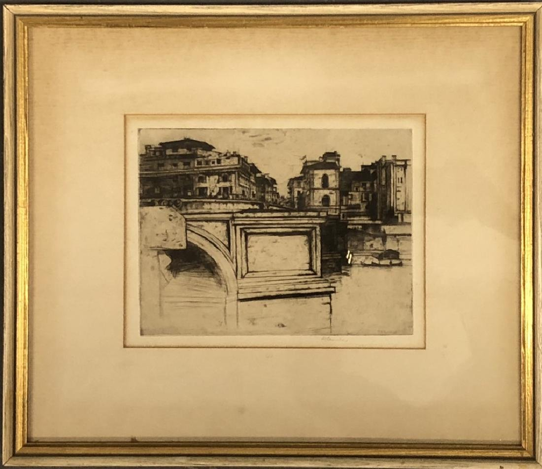 Five Framed and Matted Engravings - 7