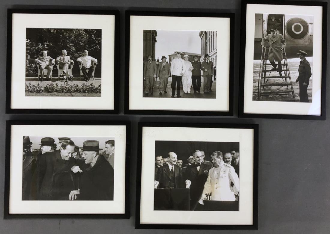 Five WWII Photos of Stalin, Roosevelt, Churchill