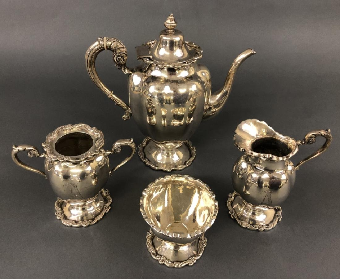 Mexican Sterling Silver Four Piece Tea Service