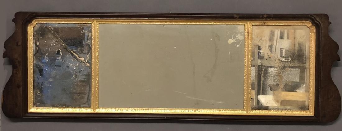 Queen Anne Walnut Over Mantel Mirror