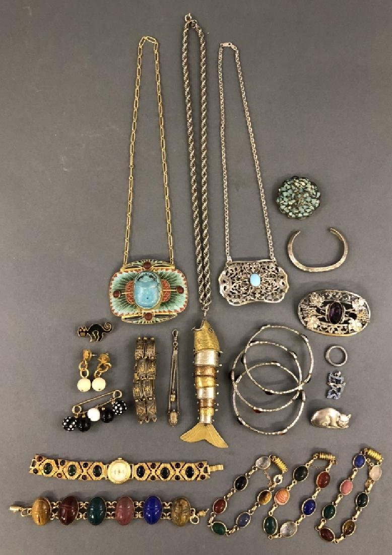 Grouping of Scarab Jewelry
