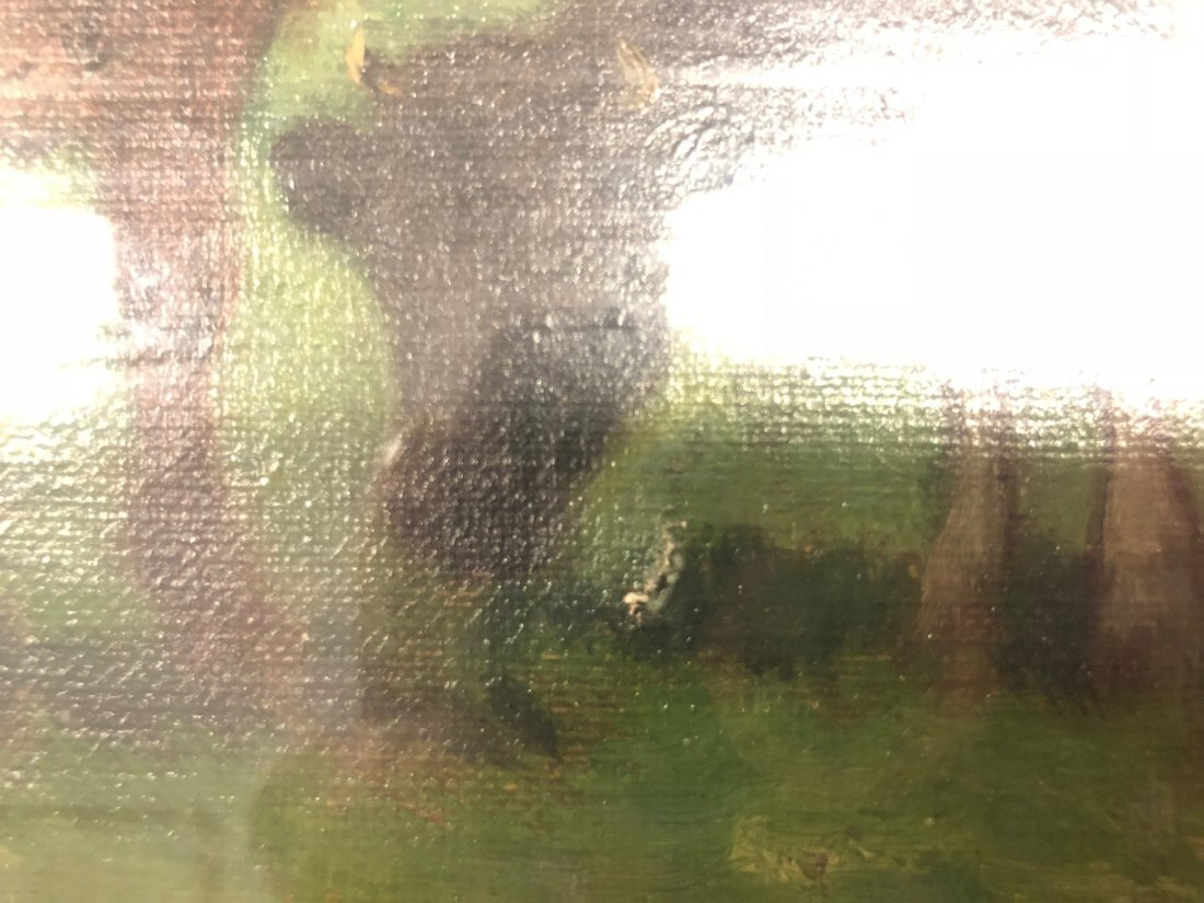 Carleton Wiggins Oil on Canvas of Cows - 7