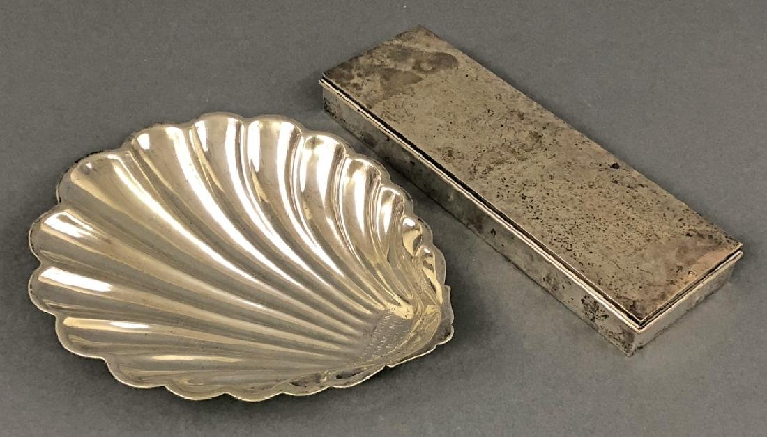 Sterling Silver Shell Dish and Box