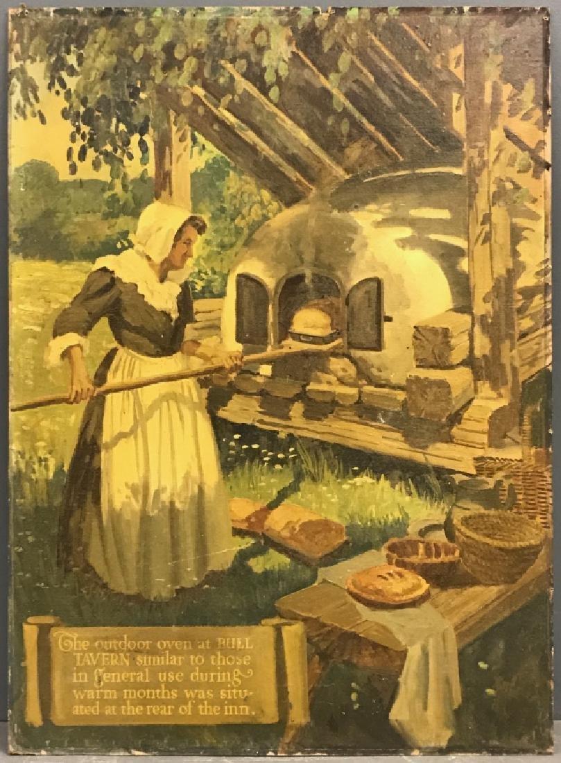 "John R. Peirce Oil on Masonite ""The Outdoor..."""