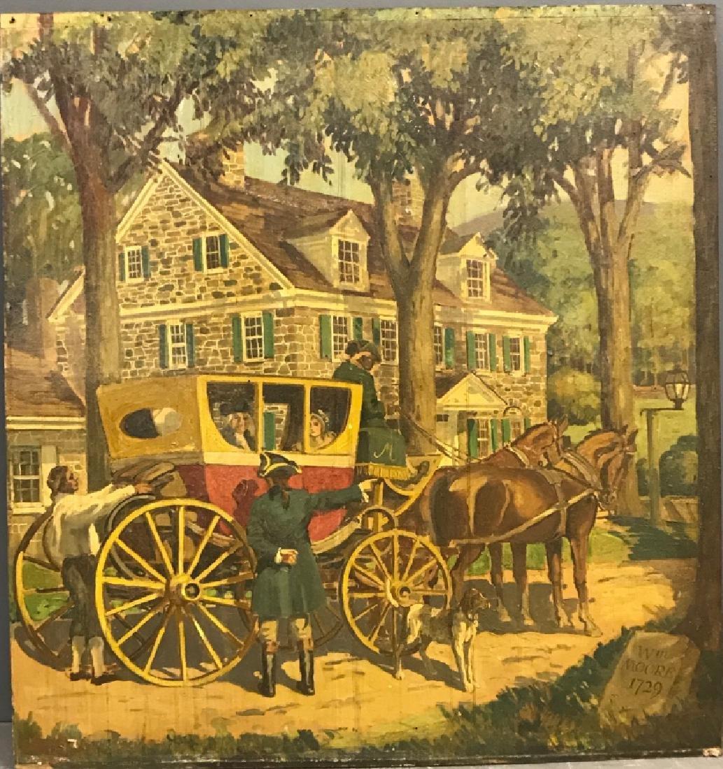 John R. Peirce Oil on Masonite of William Moore...