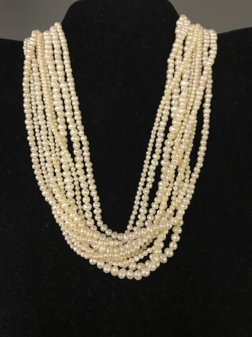 Seed Pearl Choker Necklace