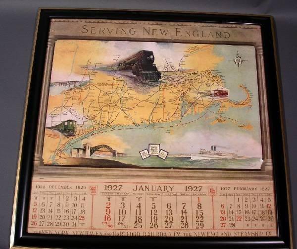 5: Calendar Jan 1927 New York, New Haven & Hartford RR