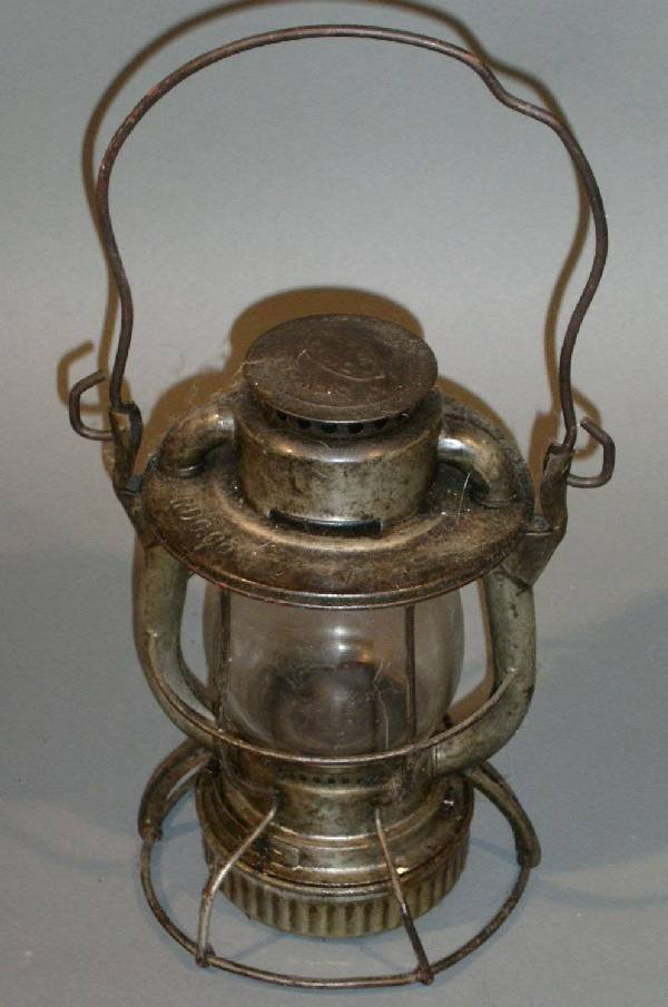 "6: Railroad lantern, Dietz, RDG Co. on globe. 10.5""h.,"