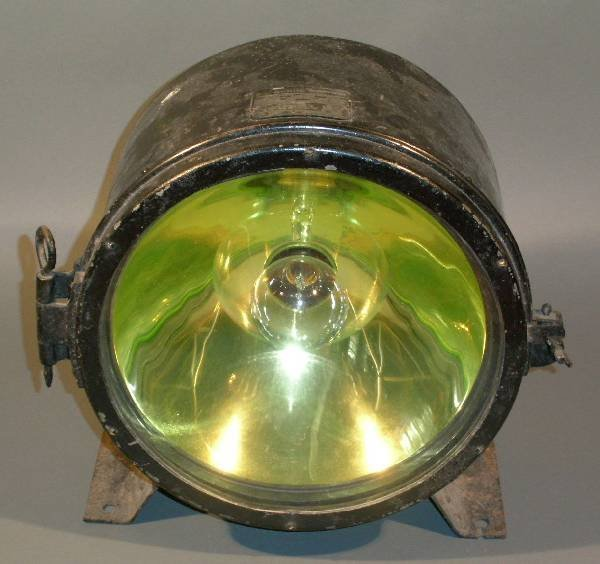 """7: Trolley or tender headlight, National Co. 15.5""""h.x9"""""""