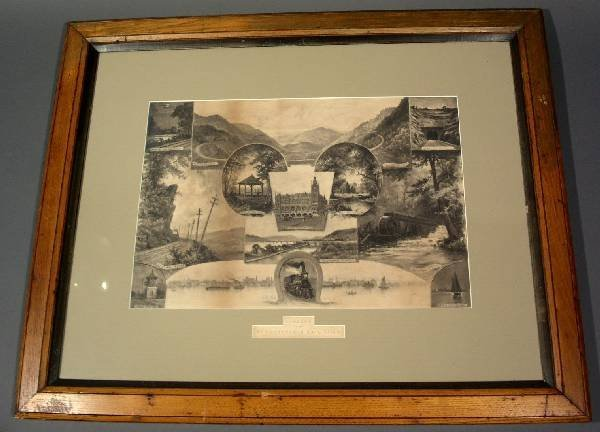 "11: Print ""Scenery on the Pennsylvania Rail Road, copyr"