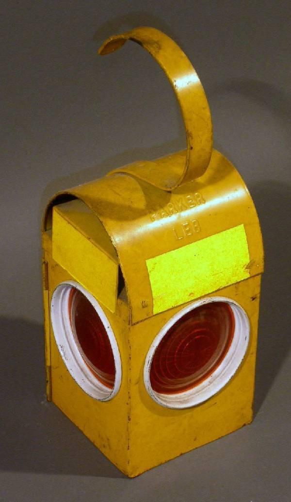 """24: Lantern, London Electrical Board. 16""""h.x5.5""""w.x5.5"""""""