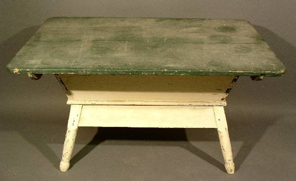 "325: Pennsylvania pine dough box, c.1840. 27""h., top-"