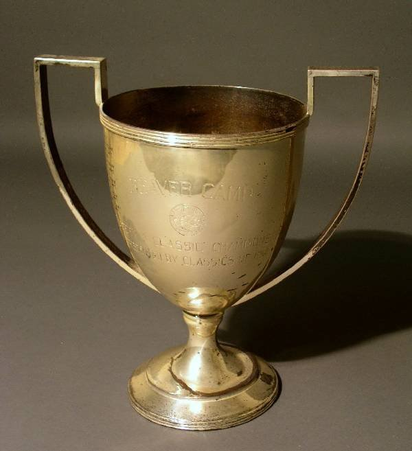 327: Sterling silver presentation loving cup, marked