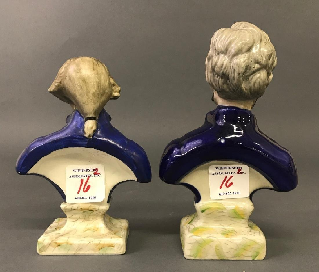 Staffordshire Busts of Washington & Lincoln - 3