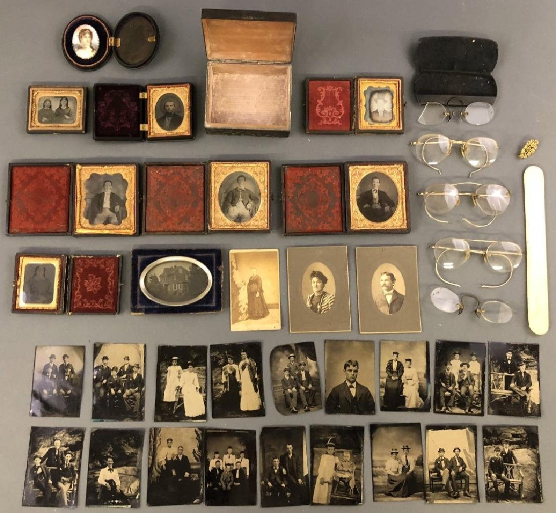 Collection of Daguerreotypes and Tintypes