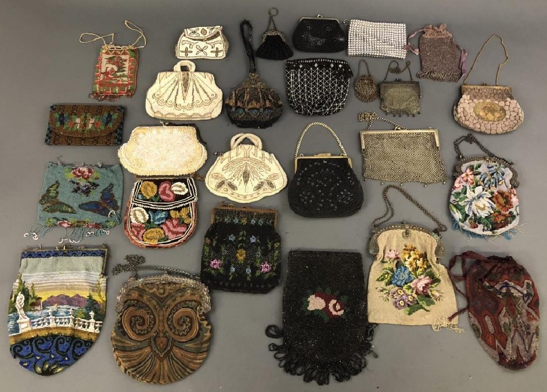 Twenty-Five Vintage Mesh and Beaded Handbags