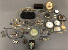 Grouping of Vintage Jewelry, etc.