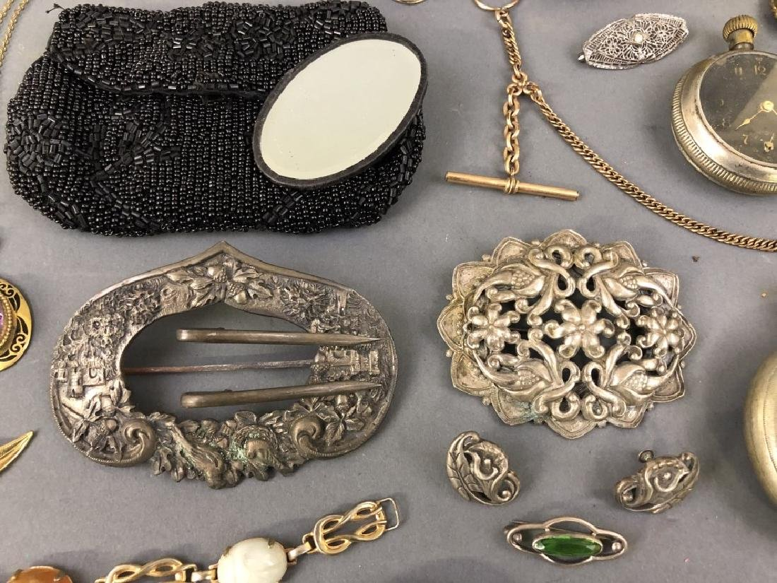 Grouping of Vintage Jewelry, etc. - 4