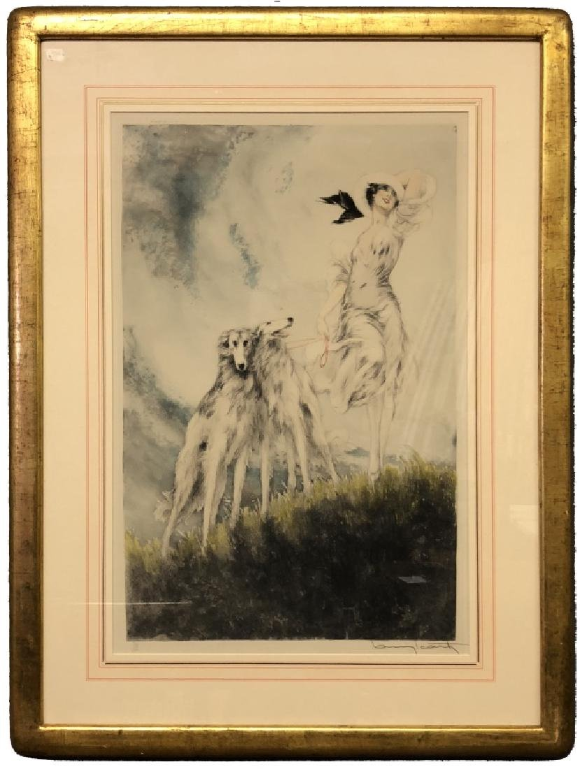 "Louis Icart Signed Etching ""Joy of Life"""