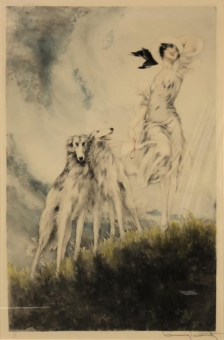 "Louis Icart Signed Etching ""Joy of Life"" - 2"