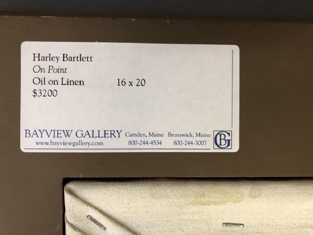 """Harley Bartlett Oil on Linen """"On Point"""" - 4"""
