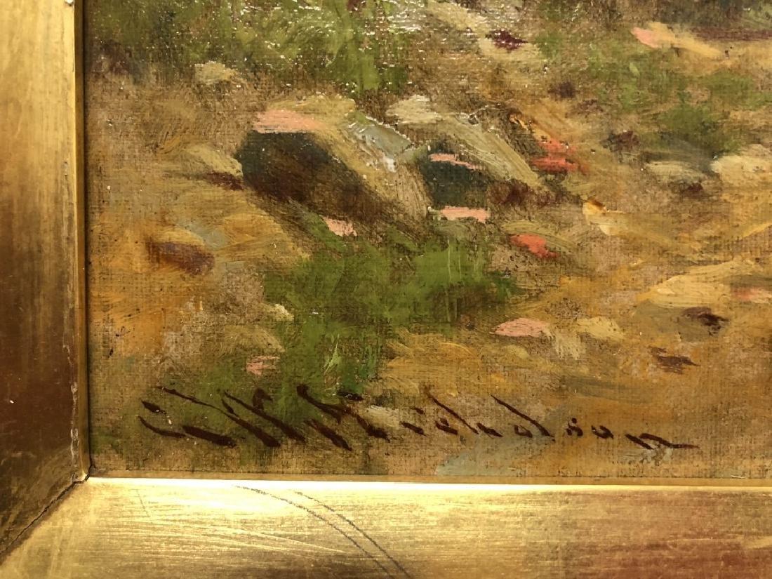 G.W. Nicholson Oil on Canvas Italian Coastal Scene - 3