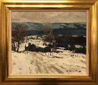 """Charles Movalli Acrylic on Canvas """"Mid-Winter"""""""