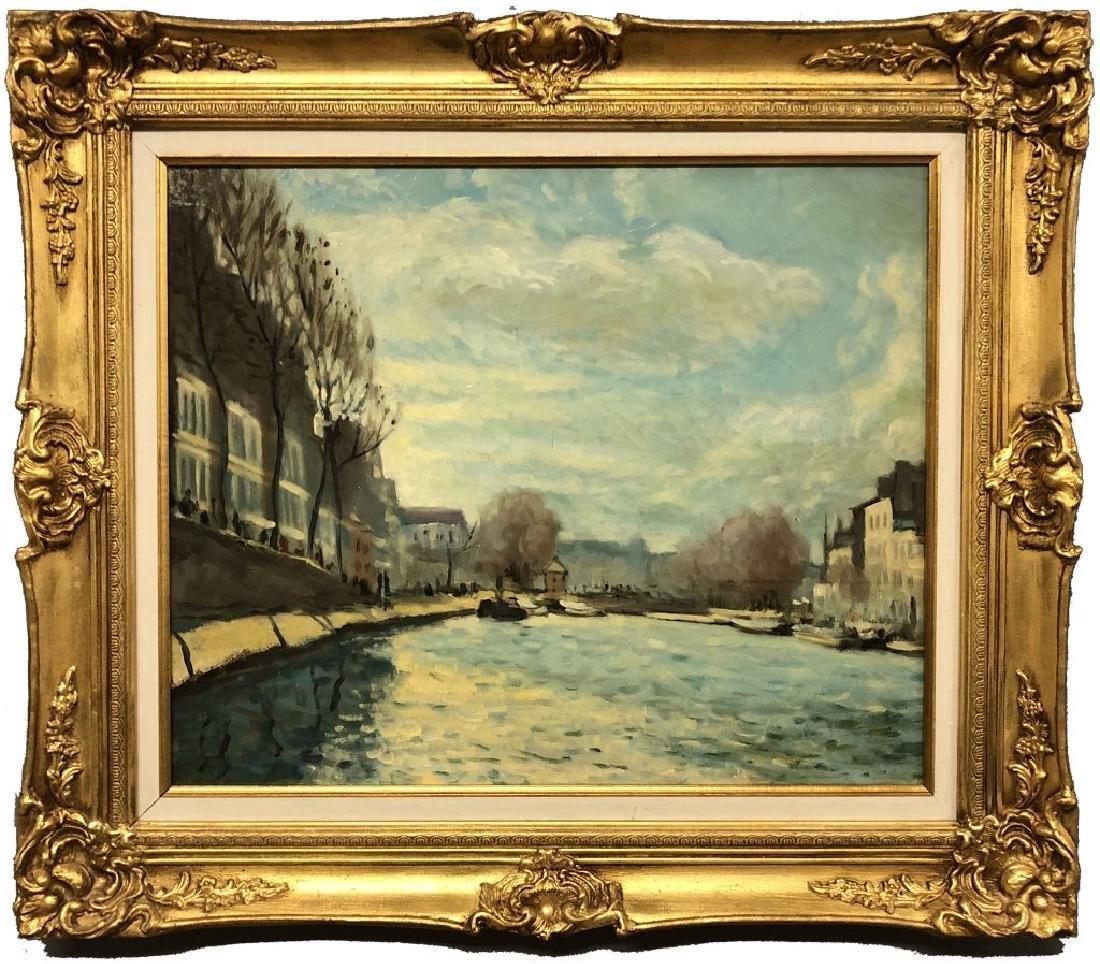 Oil on Canvas Riverscape